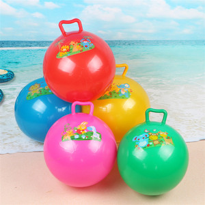 Hot Sale High Quality Standard Size PVC Inflatable Beach Natural Rubber High Bounce Handles The Ball