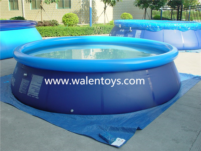 Prompt pool quick up outdoor easy set up garden set for Quick up pool oval