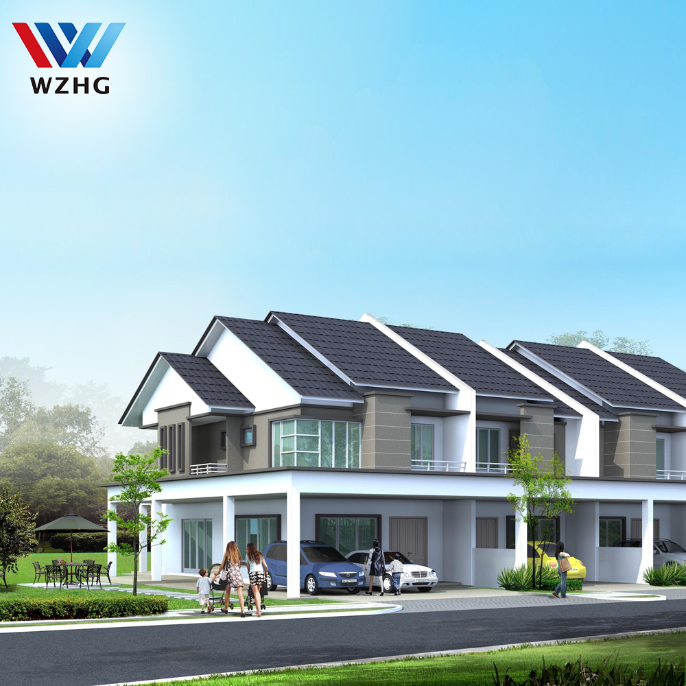 chinese price luxury house kits building prefabricated villa steel prefab house