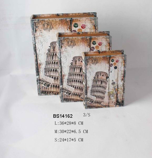 Ontwerper Toren Van Pisa.De Scheve Toren Van Pisa Canvas Box Boek Vorm Stof Canvas
