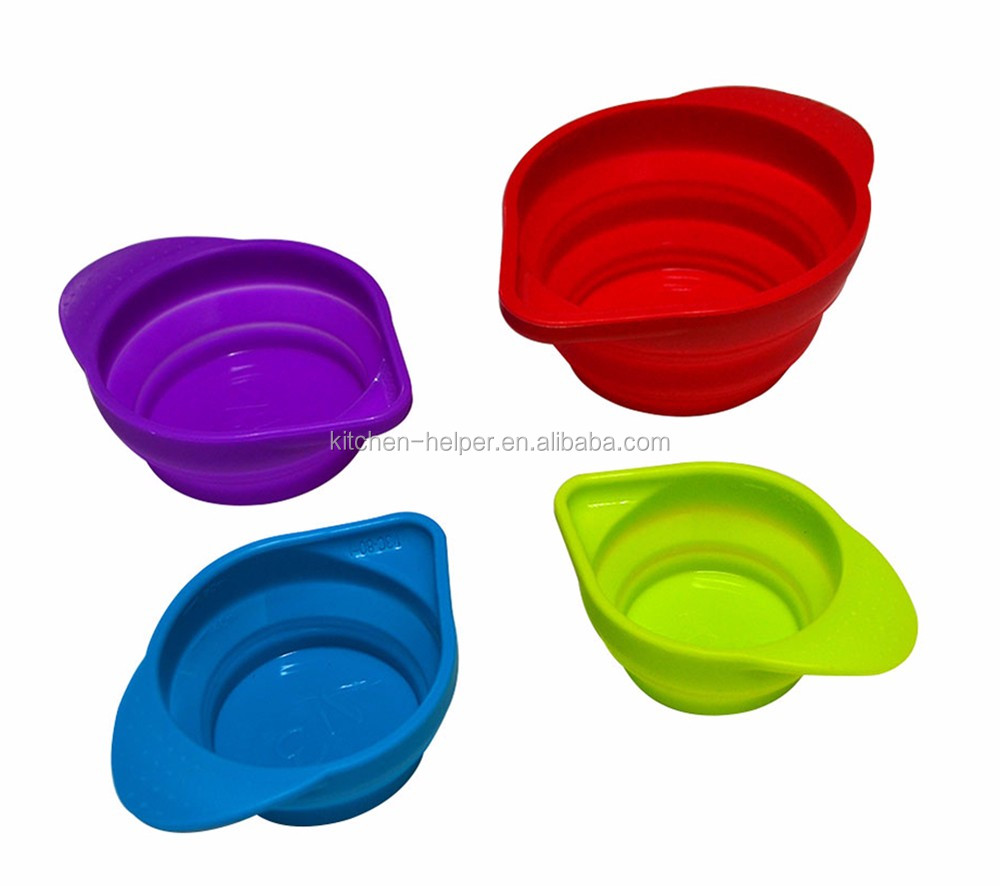 Marvelous Factory Instock Portable Silicone Measuring Cups U0026 Spoons