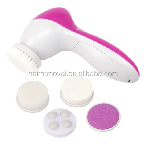 5 in 1 beauty care massager ABS Plastic pink use with AA*2 Batteries face massage roller