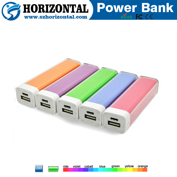 Make your own lipstick power bank 2600mah cylinder power bank phone ,china manufacturer power bank