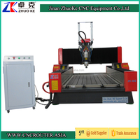 High Z Axis 4 Axis CNC Stone Router ZK-9015 900*1500mm PCI NCStudio Control 5.5Kw Spindle Air Cylinder