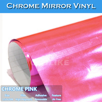 CARLIKE Flexible Air Free Beauty Car Sticker Chrome Vinyl Wraps