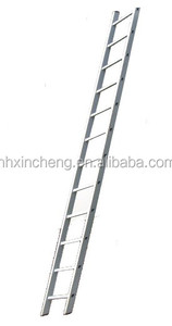 2m - 6m 6steps to 20 steps 6061 T5 One-section single side Aluminum scaffolding straight agility step ladder