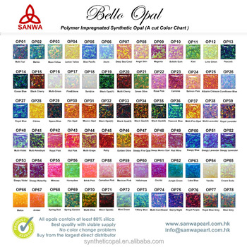 Synthetic Opal Color Chart In 55 Colors Buy Impregnated Synthetic