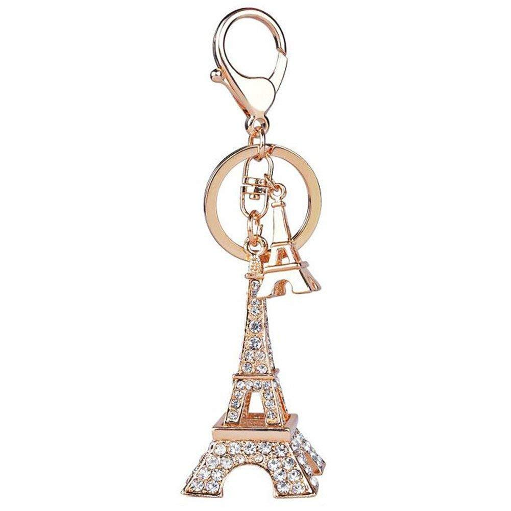 10 Pieces Keychain Door Car Key Chain Tags Keyring Ring Chain Keychain Supplies Antique Silver Tone Wholesale Bulk Lots B7TC8 Paris Eiffel Tower