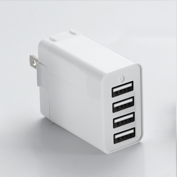 Universal High current four port usb charger CE/Rohs certificate Portable power charger for all smart phones