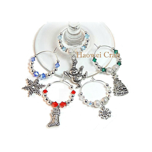 WM-10664 New coming excellent quality luxurious wine glass charms with good offer