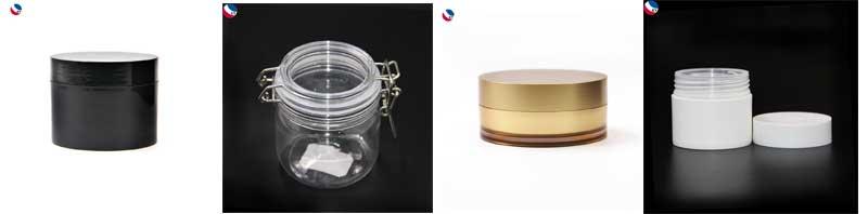 พลาสติก Body Butter Square Jars เครื่องสำอางครีม Frosted หรือล้างขวดพลาสติก 300 กรัม