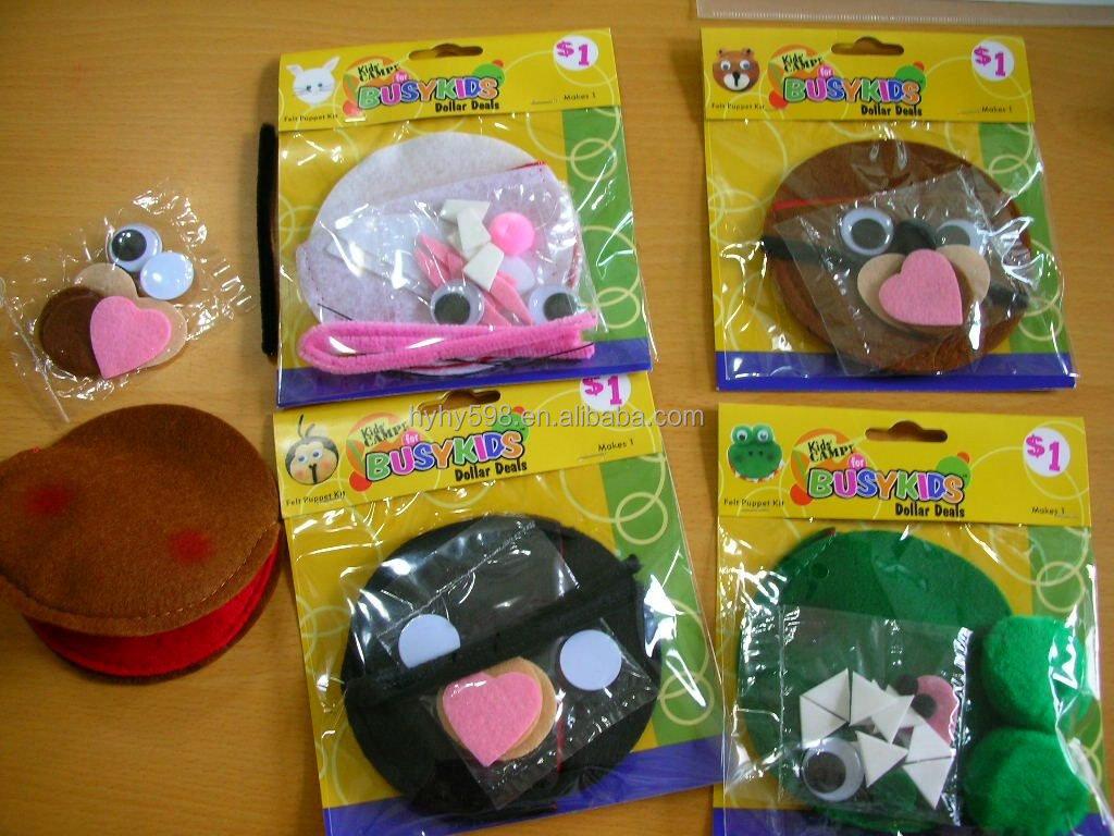 14081816 Factory Direct Selling Azo Free Kids Craft Felt Kits