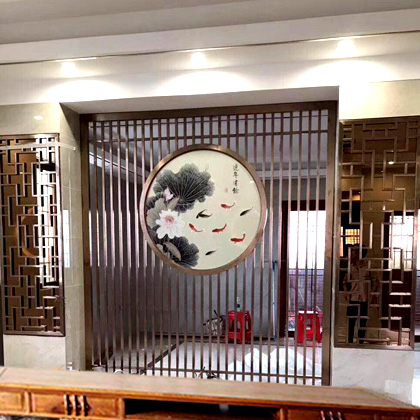 Laser Cut Home Living Furniture Metal Room Divider / Decorative Metal screen /  made office area room  Partition Fence