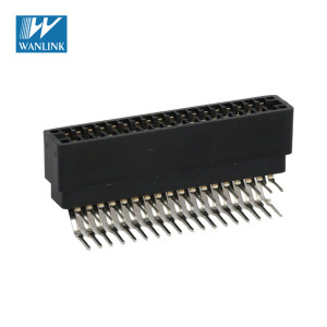 90 degree 2.54mm pitch 36pin W/O Mounting Ears Card Edge Connector Slot R/A type HY1086-06 24 pin card edge connector