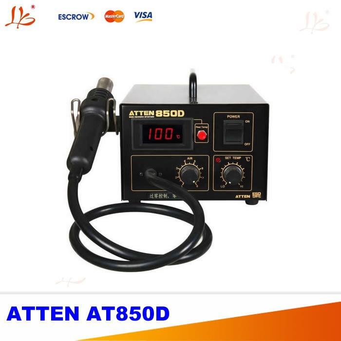 220V/110V Hot air SMD soldering station ATTEN AT850D, anti-static and digital display welding machine