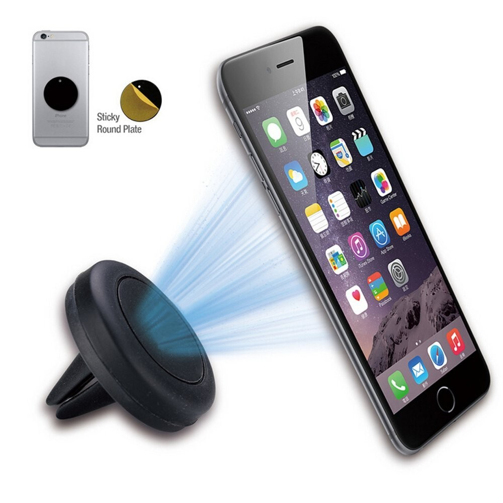 360°Rotating Magnetic Mount Car Air Vent Mobile Phone Holder Stand Mini For GPS