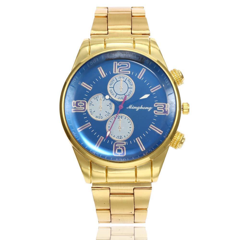2018 Hot Sale Luxury Watch Fashion Stainless Steel Watch for Men's Quartz Analog Wrist Watch Clearance