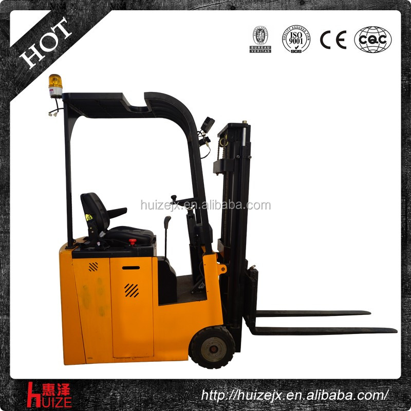 2 Ton Walk Behind Pallet Stacker Electric Forklift Price 1: China Best Selling Mini Three Fulcrum Electric Forklift