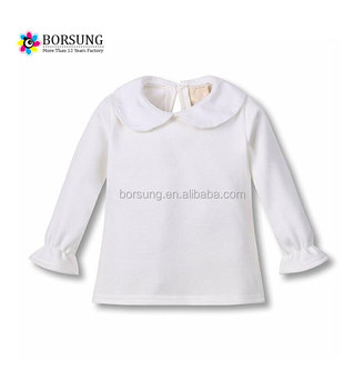 57a707b9 Latest Baby Girls Top Shirt Design High Quality back button doll neck Blouse  for Kids