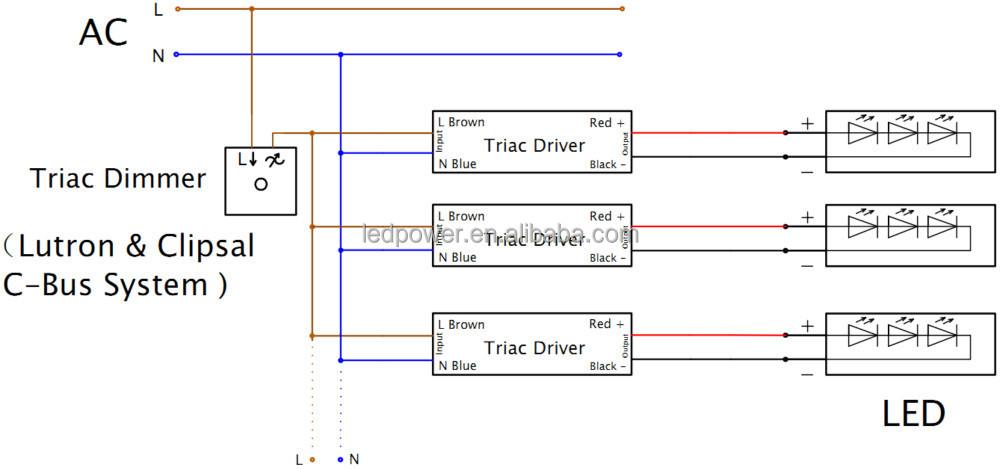 Kv-24100-td Led Triac Dimmer Driver 100w Match Varigight Dimmer ...