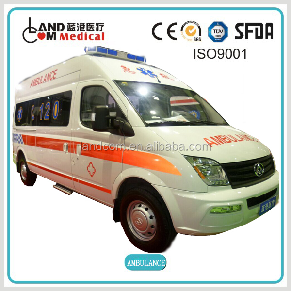 Right hand drive diesel fule emergency ambulance for tender factory Maxus Toyota Ford chassis brand