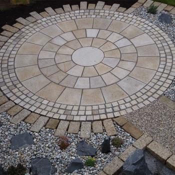 Nice Granite Rough Cut Pavers,garden Round Paving Stone