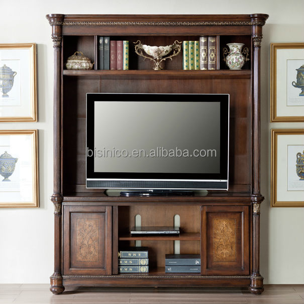 Vintage Design Wooden Tv Cabinet America Style Replica Living Room