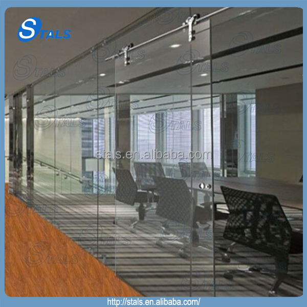 Office Glass Partition Wall Sliding Glass Door Buy
