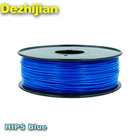 DEZHIJIAN 3mm 1.75mm hips 3d printer filament blue 3d printer filament 1.75