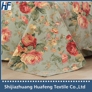 240cm 75*46 woven printed cotton canvas fabric for table cloths/ curtains /beddings