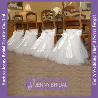 C370A Tulle chair skirting ruffled wedding chair cover