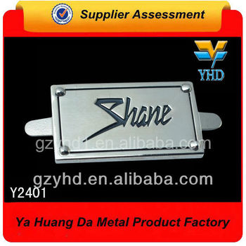 Fashion metal leather labels with brand