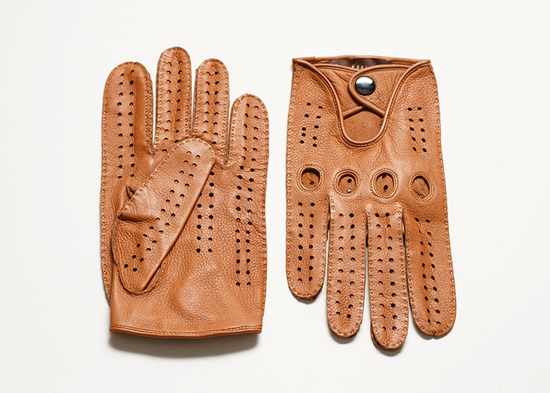 Locomotive model deerskin gloves outdoor sports gloves leather motorcycle