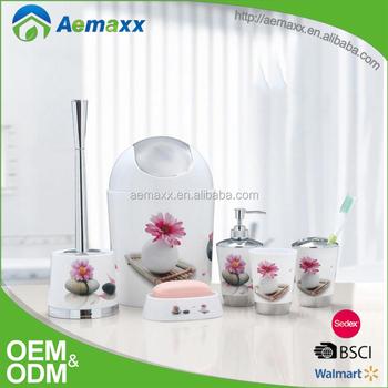 wholesale popular plastic beautiful bathroom accessories goods guangzhou - Beautiful Bathroom Accessories