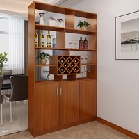 Customized High Quality Solid Wood Carving Wine Cabinet Furniture
