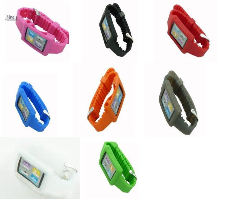 For Apple iPod Nano 6 silicone Sports Watch band