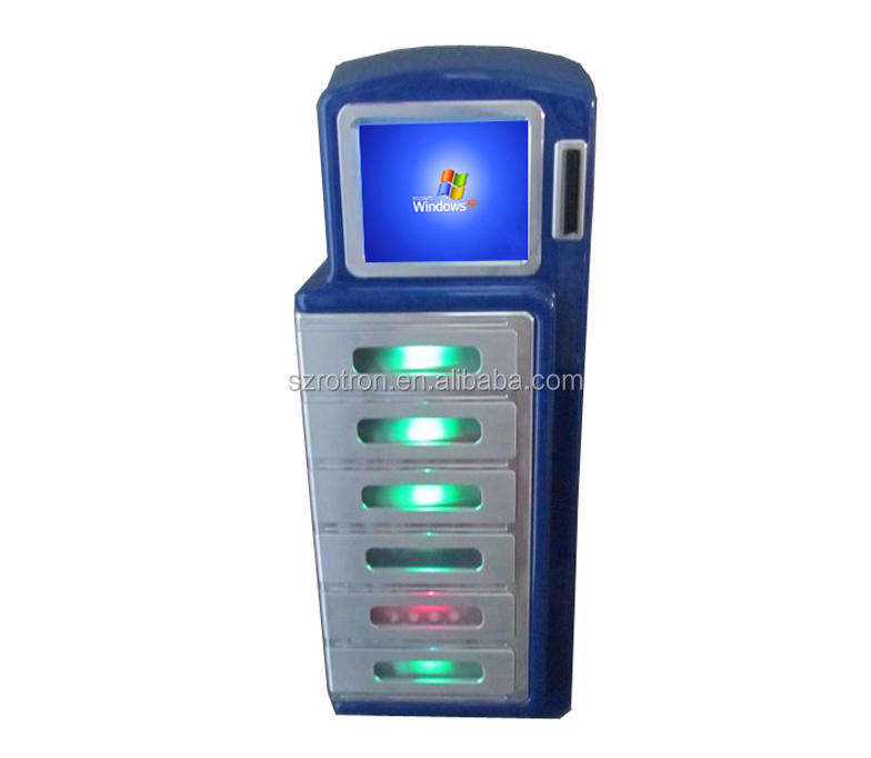 High Safety Self Service Windows 7 Desktop Mobile Cell Phone Ipad Charging  Kiosk By Card Payment - Buy Desktop Cell Phone Charging Station,Cell Phone