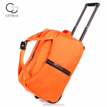 Outdoor international travel bags with wheels, wholesale luggage trolley bags