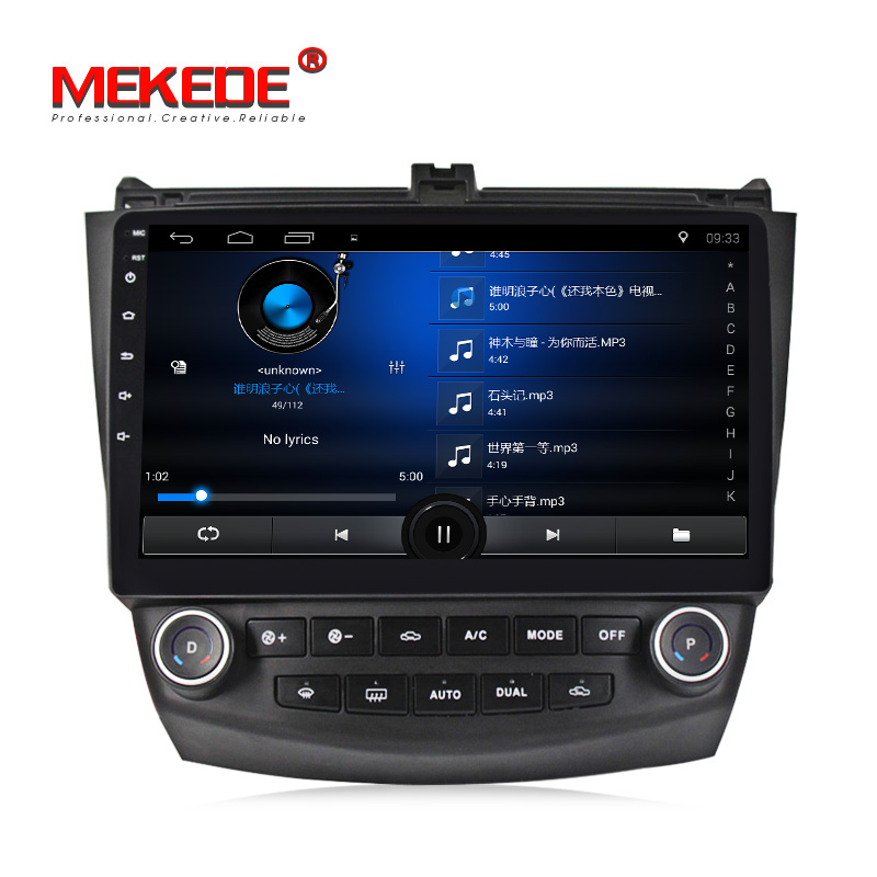 "Mekede 2 + 32G T3 Quad Core Android8.0 10 ""Tela HD Media Player De Rádio de Carro com Sistema de GPS para Hon-da Ac cord 7th Vídeo Do Carro Wi-fi"