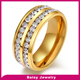 China Factory hot sale whole circle diamond ring 18k gold stainless steel ring wholesale