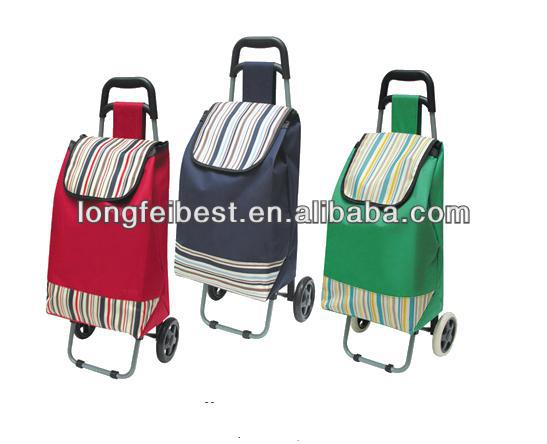 Portable 600D Fabric shopping cart with Customized logo
