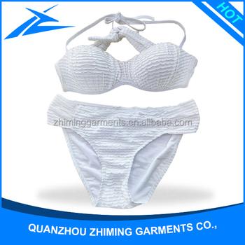 907585aacab3 China Fabricantes De Trajes De Baño En Blanco Chicas Jóvenes Atractivas  Calientes Thong Tankini Tubo Superior Bikini Triángulo Bikini - Buy ...