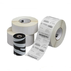 Custom sizes rolled blank sticker zebra label
