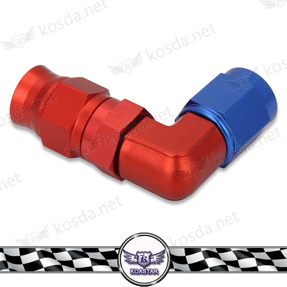 Inventive An4 45 Degree Aluminum Hose End Fitting Adapter Push On Lock Hose End For Oil Fuel Hose Line Auto Replacement Parts Fuel Supply & Treatment
