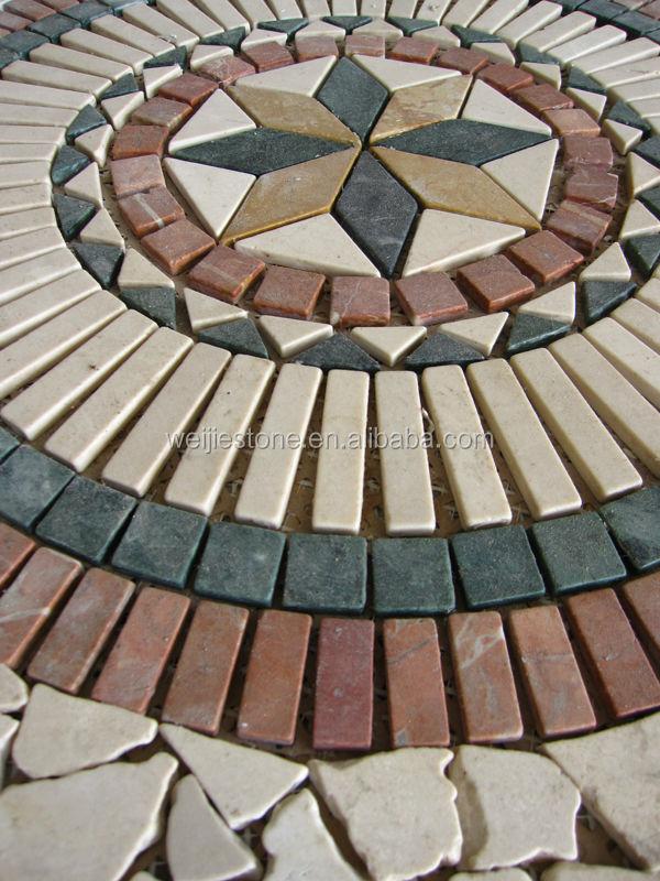 Muster Medaillon Bodenfliesen Fliese Rechteck Mosaik Medallion