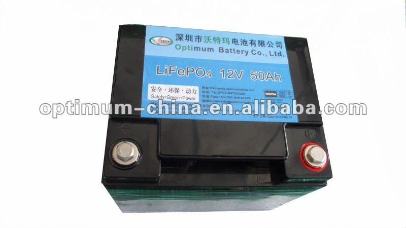 12V 50Ah LiFePO4 UPS batteries
