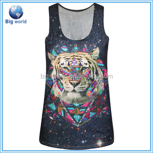 Hot ! tiger 3D Print Sexy Sleeveless Women Tank Tops Summer Style O-neck Tops for Tank Top manufacture Women White Vest