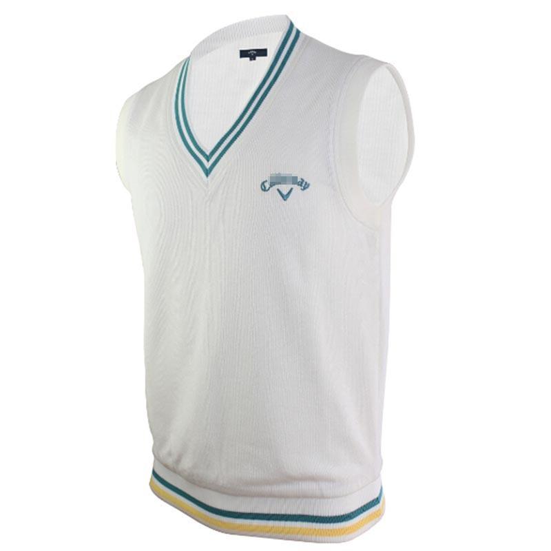0ac076262c6dc Get Quotations · 2015 new men s golf vest non-sleeve branded knit V-neck  vest comfortable warm