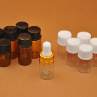 Test tube manufacturer 3ml 4ml 5ml 6ml 7ml 8ml 10ml amber clear small bottle glass test tube with white plastic cap