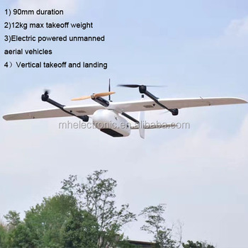 Vertical Takeoff And Landing 2kg Payload Fixed Wing Drone UAV View Larger Image